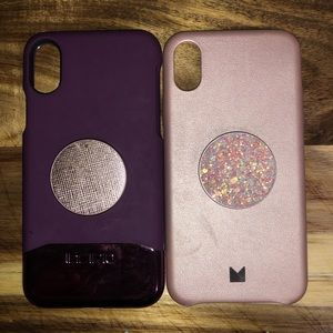 I phone x cases with pop sockets!